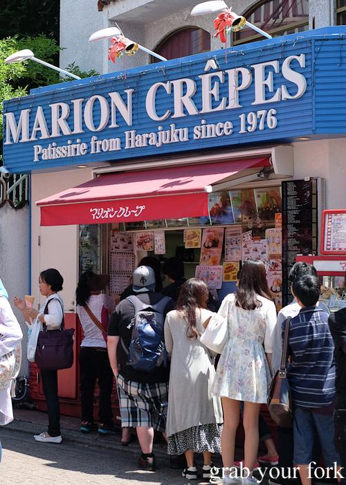 Marion Crepes on Takeshita Dori in Harajuku, Tokyo