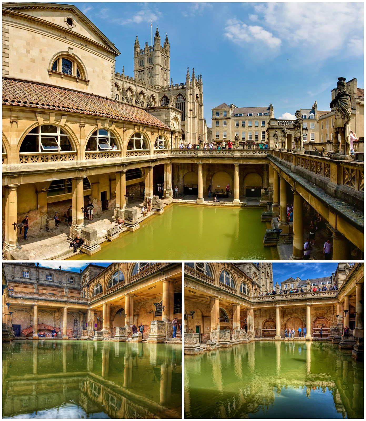 Roman Baths. Credit David Iliff; Neil Howard; flickr; Treye Rice, flickr