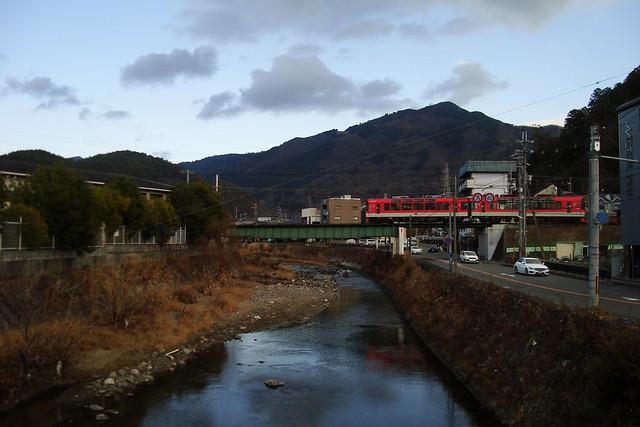 2016/01 宝ヶ池鉄橋と叡山電車900系きらら