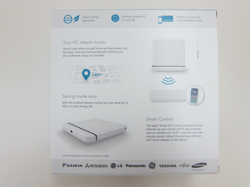tado Smart AC Control - Box Back