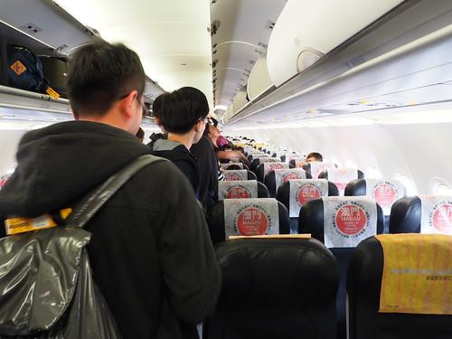 タイガーエアの機内の様子