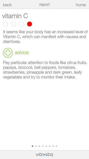 Vitastiq iOS App - Report - Vitamin C - Too Much