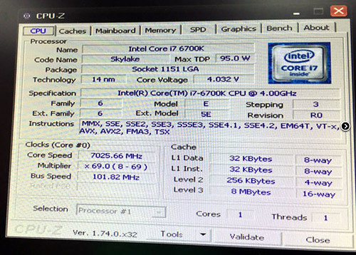 Intel Skylake @ 7 GHz