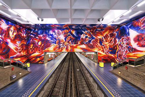 Brussels Metro Station Hankar