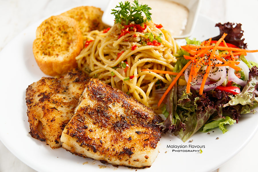 Rail Canteen Sunway Nexis grilled cajun dory with spaghetti