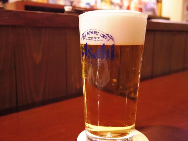 新橋「ビアライゼ98」のビール「マルエフ」の写真