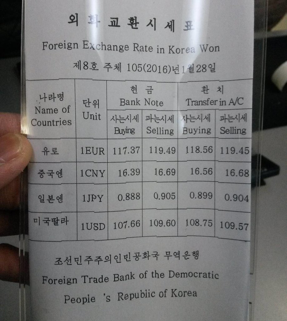 Rate Janua… 28 Korea Korea ₩on Flickr north Foreign In Exchange