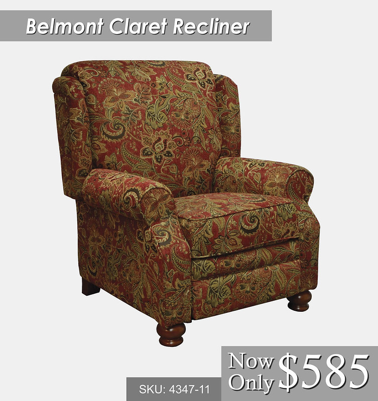 Belmont Claret Recliner