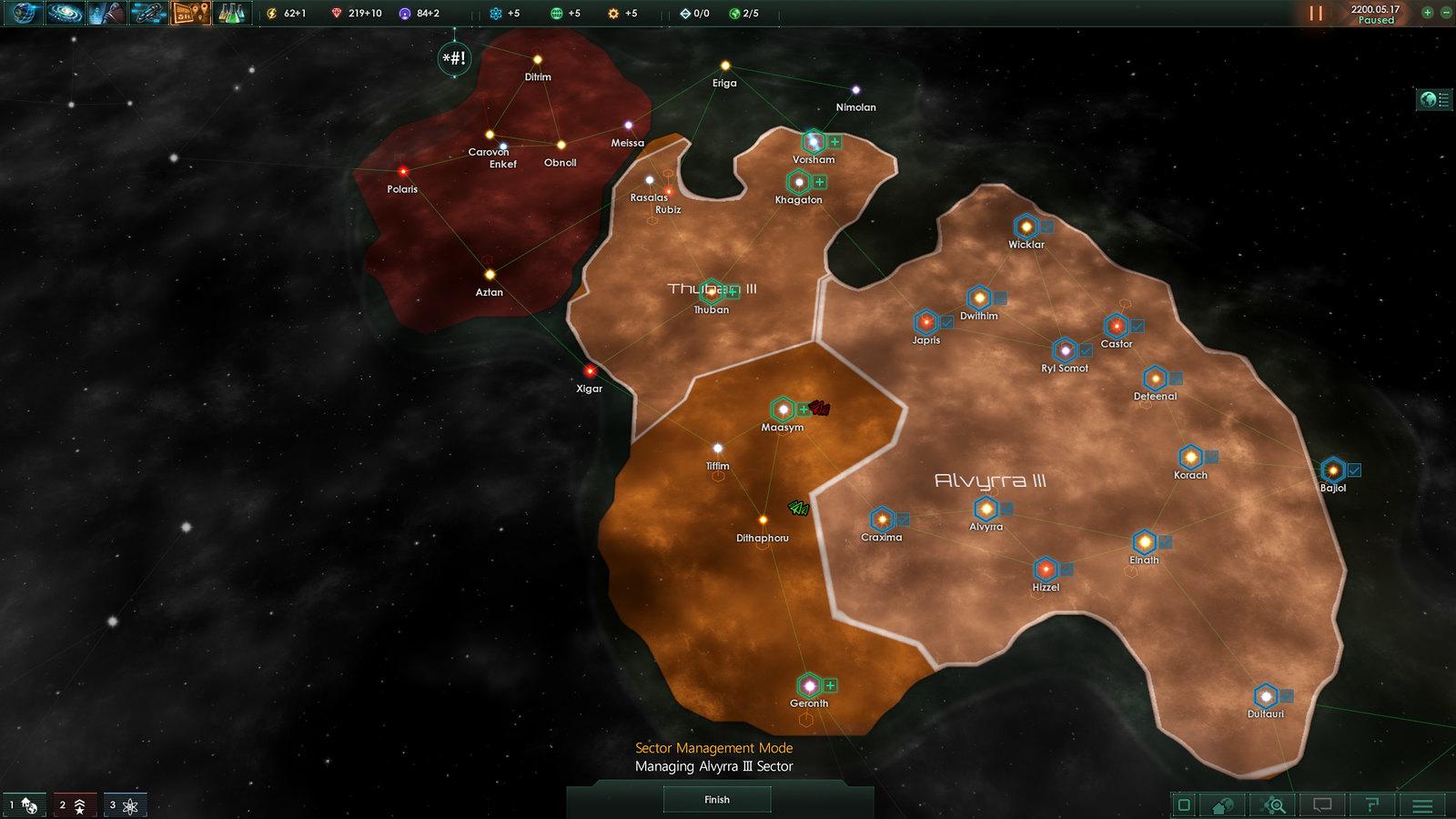 sectores administrativos imperios