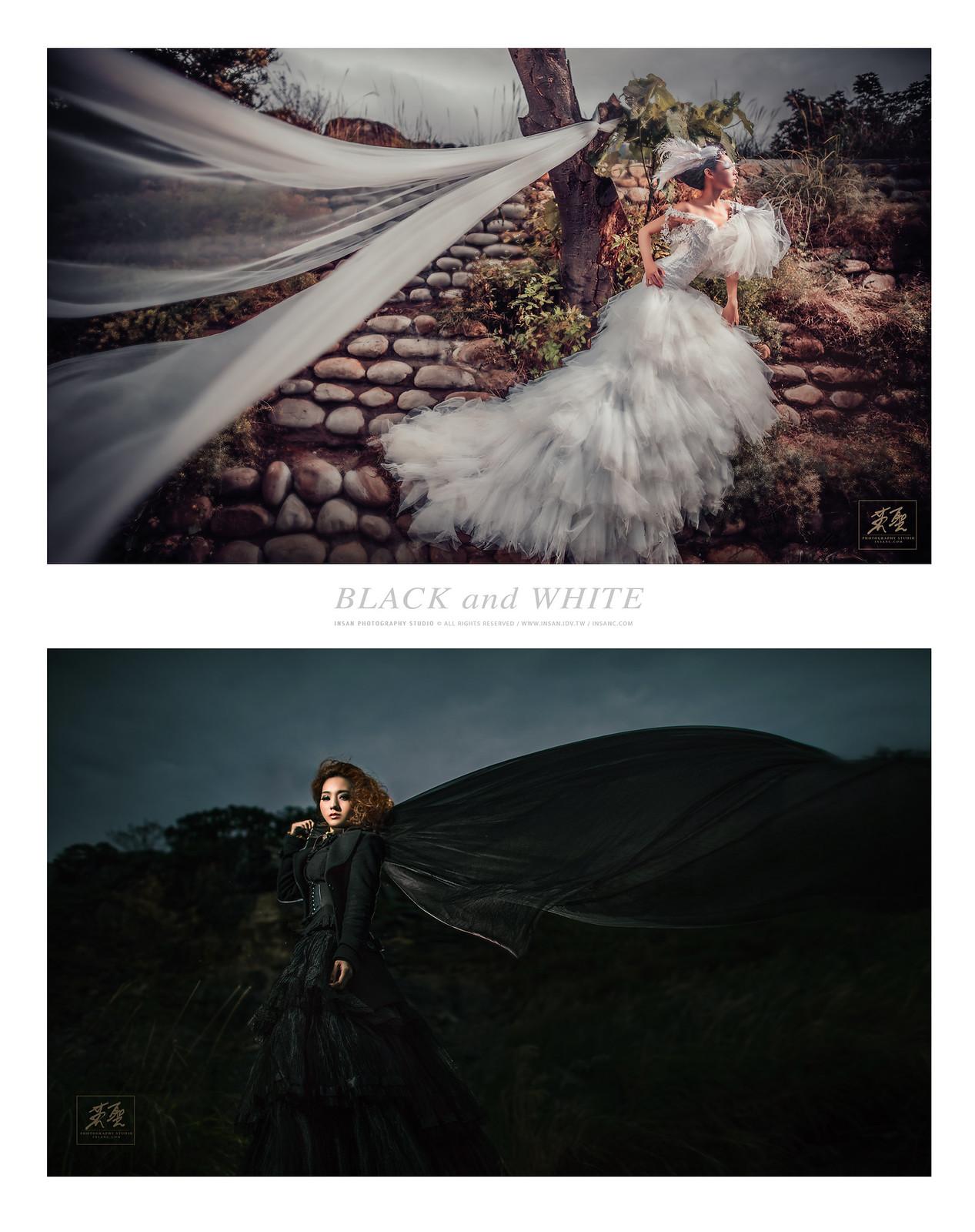 婚攝英聖婚紗創作黑與白創作1