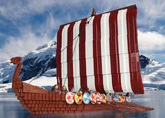 Viking ship photoshopped