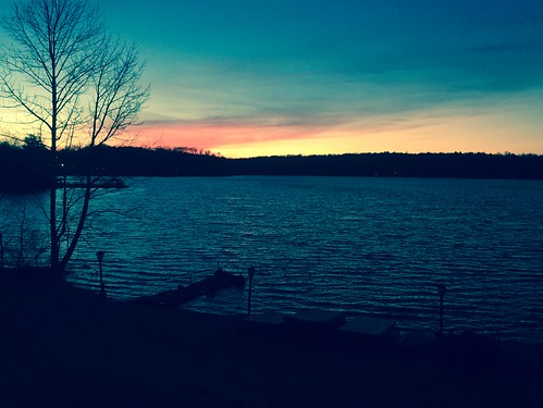 sunset sky lake water iphone6