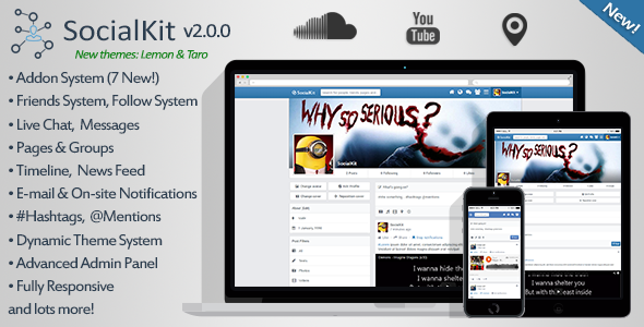 CodeCanyon SocialKit v2.0.0 - Social Networking Platform