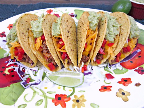 Spicy Beef Tacos with Guac
