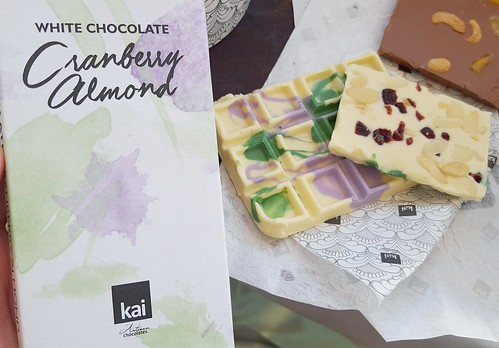 Kai Artisan Chocolate white chocolate cranberry almond | Davao Gourmet Collective 2016: Food and the City at SM Lanang Premier - DavaoFoodTripS.com
