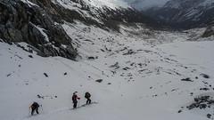 Zjazd lodowcem Vedret da Morteratsch ze schroniska Chamanna Boval
