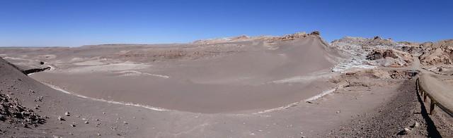 Les sables gris de la vallée de la lune