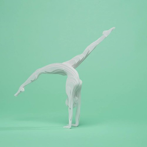 Paper Sculpture Gymnast by Raya Sader Bujana