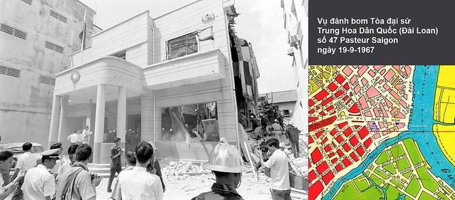 SAIGON 1967 - Bombing Republic Of China's Embassy - Vụ đánh bom Tòa Đại sứ Trung Hoa Dân Quốc (Đài Loan) tại số 47 Pasteur ngày 19-9-1967