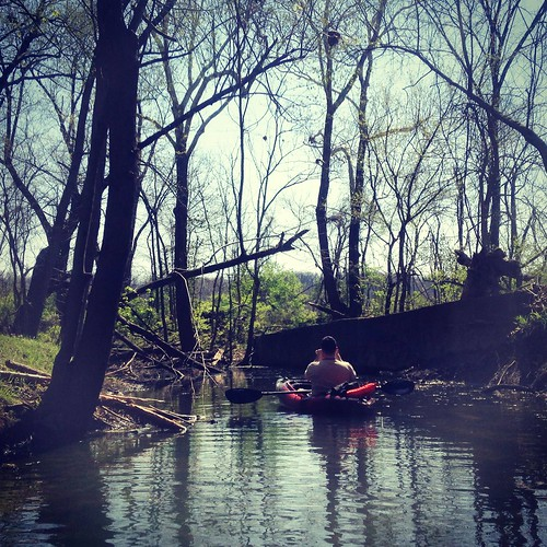 Kayaking on Springfield Lake and James River.