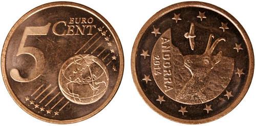 5 centov Andorra 2014, obehová