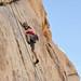 Climbing in Hidden Valley by Joshua Tree National Park