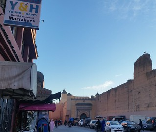 Image of  El Badi Palace  near  Marrakech-Medina.