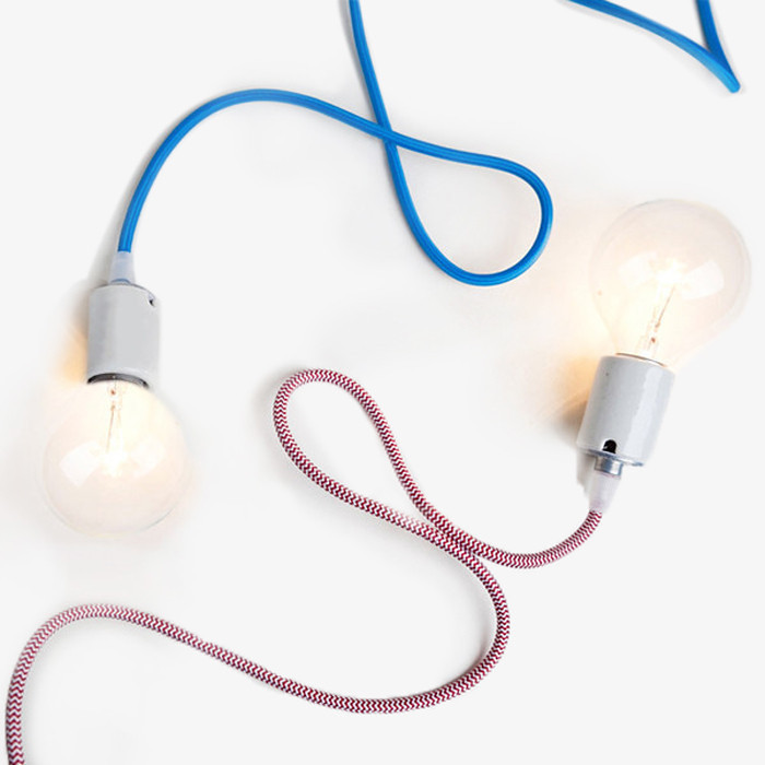 Multicolor Porcelain Pendant Light Cord