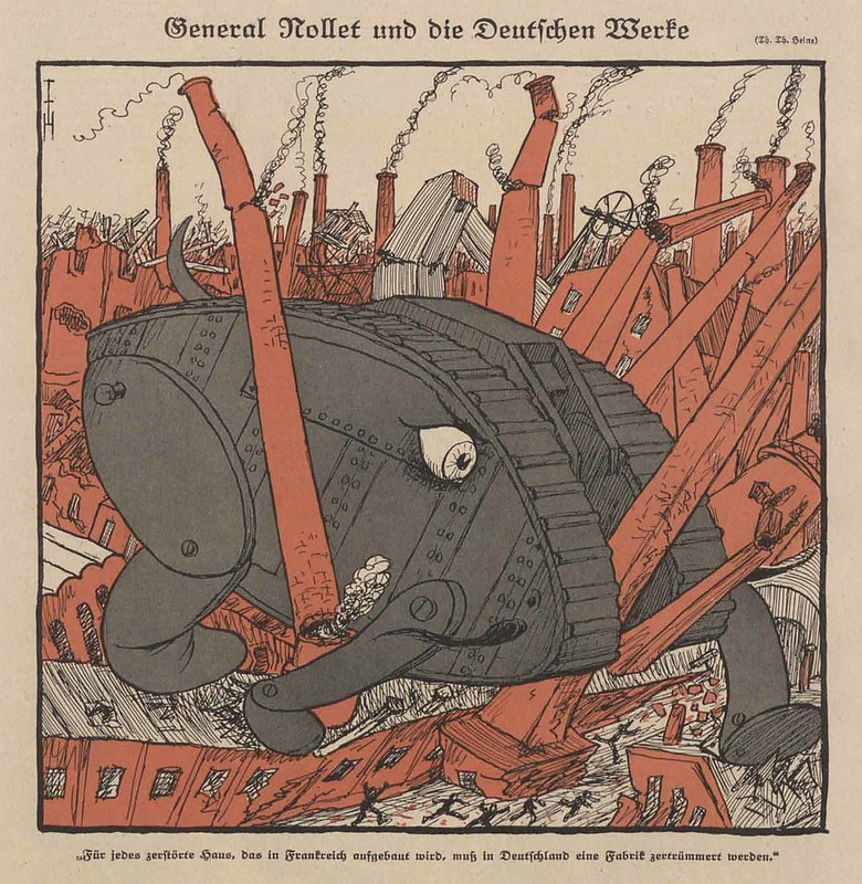 Thomas Theodor Heine - General Nollet And The German Works, 1921