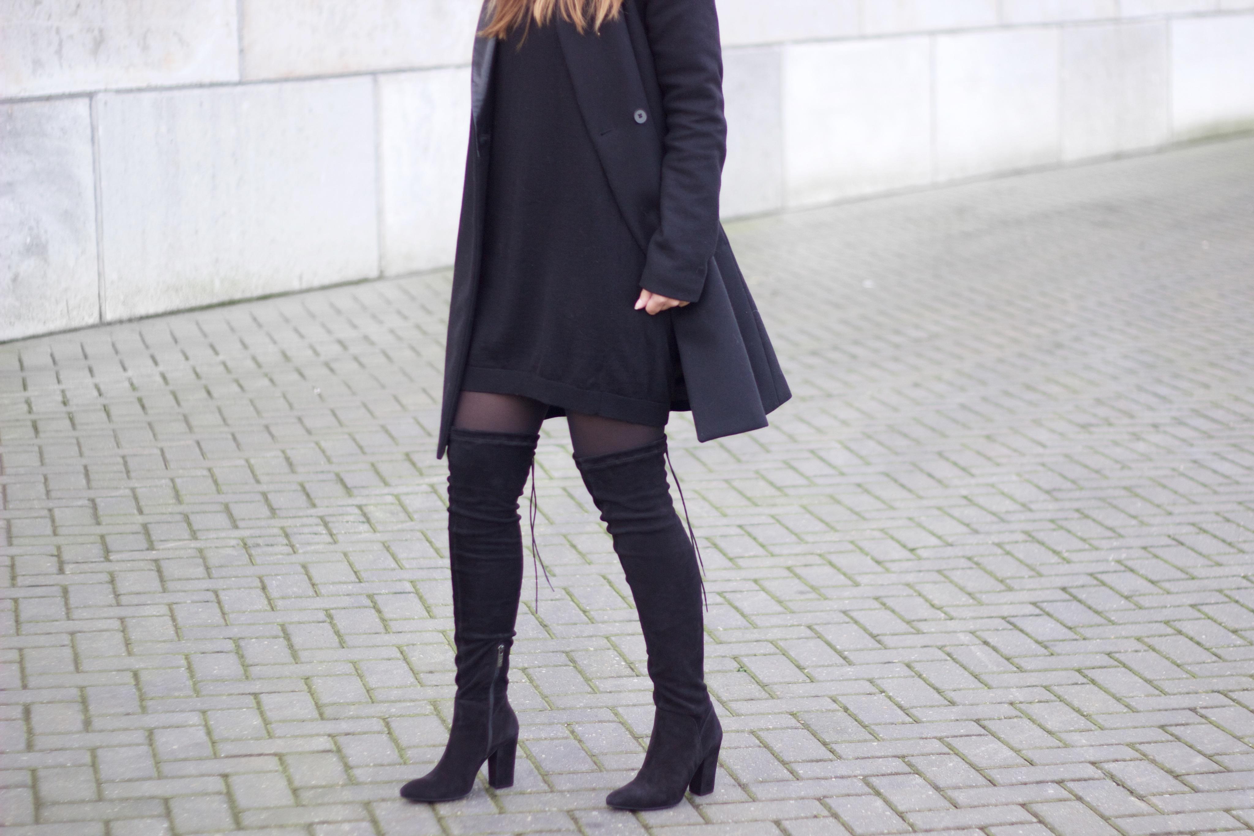 Overknee-boots-black-suede-leather-heels-zipper