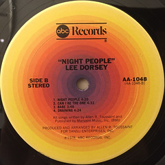 LEE DORSEY:NIGHT PEOPLE(LABEL SIDE-B)