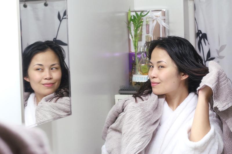 bath, shower, shampoo, hair