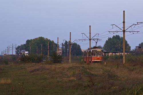 berlin tram romania streetcar tatra braila rumänien trambahn 9150 kt4d strasenbahn brăila ckdpraha braicar linie24 219150 braicarsa