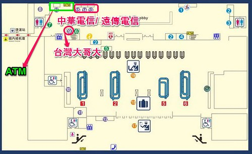 高雄国際空港1階平面図