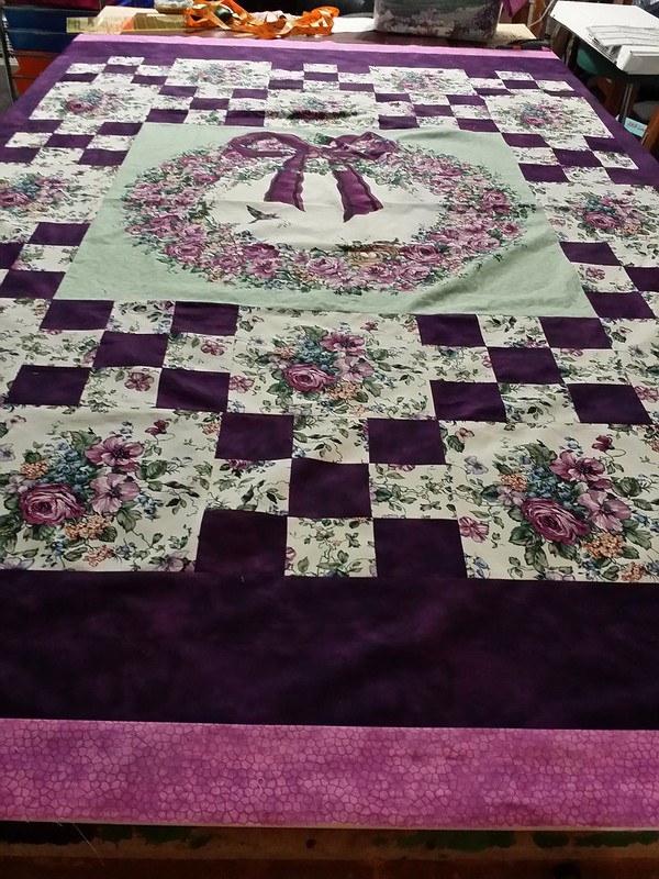 2nd round of borders on June's quilt