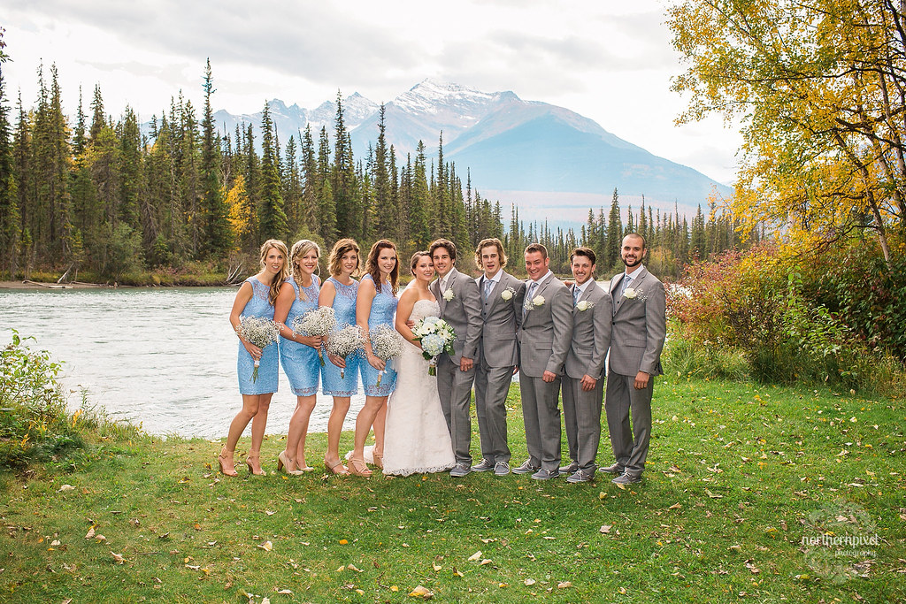 Bridal Party - Tete Jaune Wedding