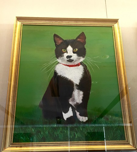 Painting of Socks the Cat, Clinton Library