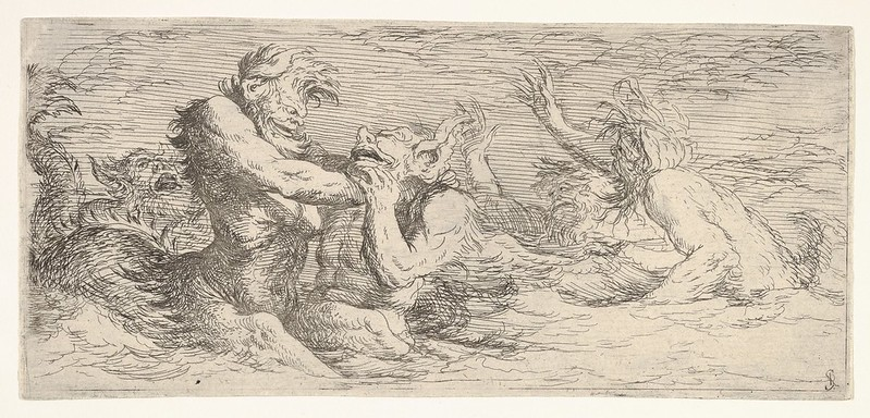 Salvator Rosa - Tritons and other figures, 1660-61