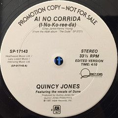 QUINCY JONES:AI NO CORRIDA(LABEL SIDE-A)