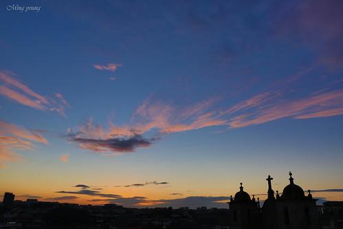 travel sunset sky cloud portugal silhouette porto 夕陽 雲 旅行 日落 天空 剪影 黃昏 葡萄牙 波爾圖