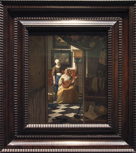 The Love Letter, Johannes Vermeer, c.1669-70