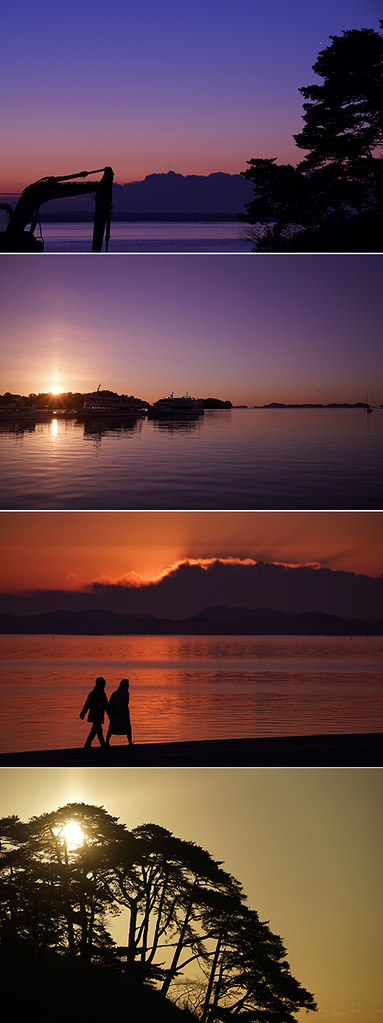 dawn and sunrise at Matsushima Seashore