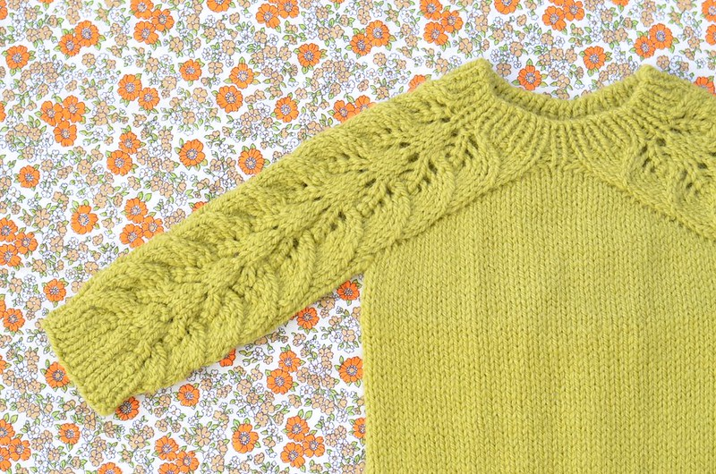 Bloomsbury Baby Sweater + Bobble Bonnet