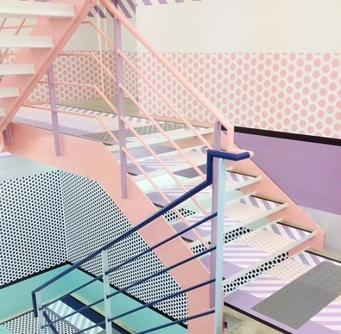 Pink Staircase. Source Unknown.