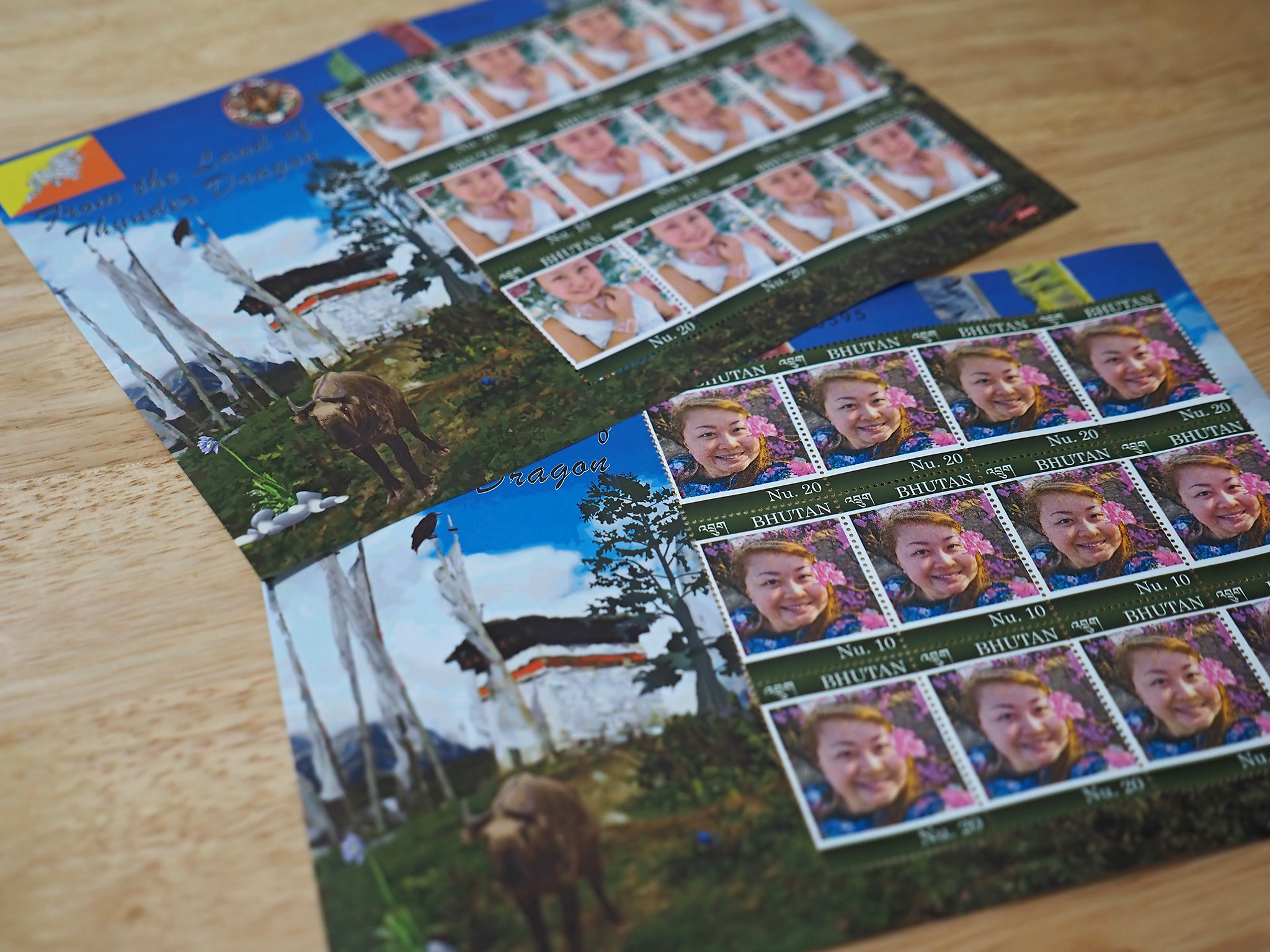 Making stamps in Bhutan