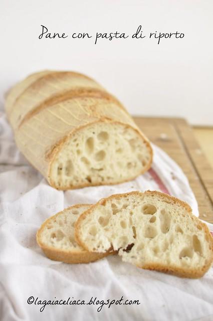 Pane senza glutine con pasta di riporto