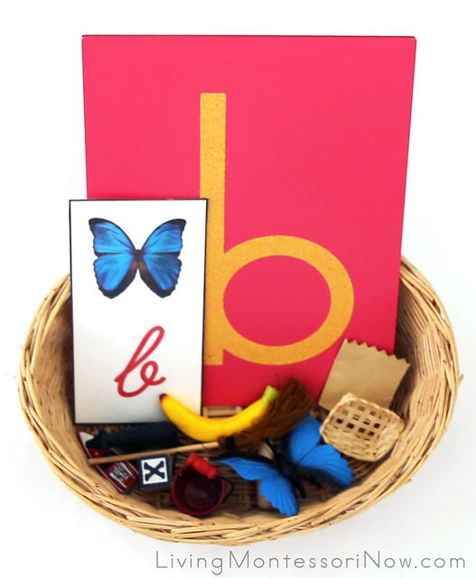 Letter B Basket