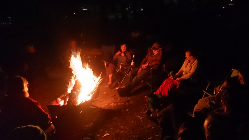 Storytelling around the fire
