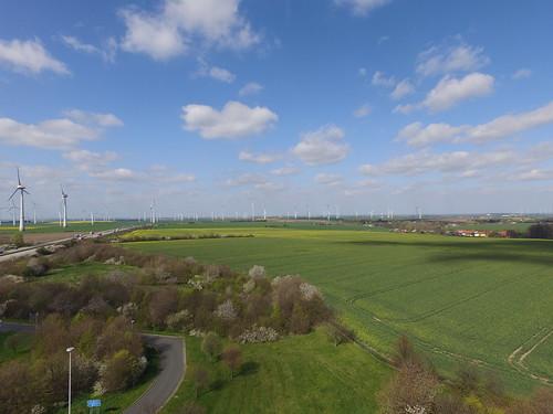 Ein Wald von Windturbinen