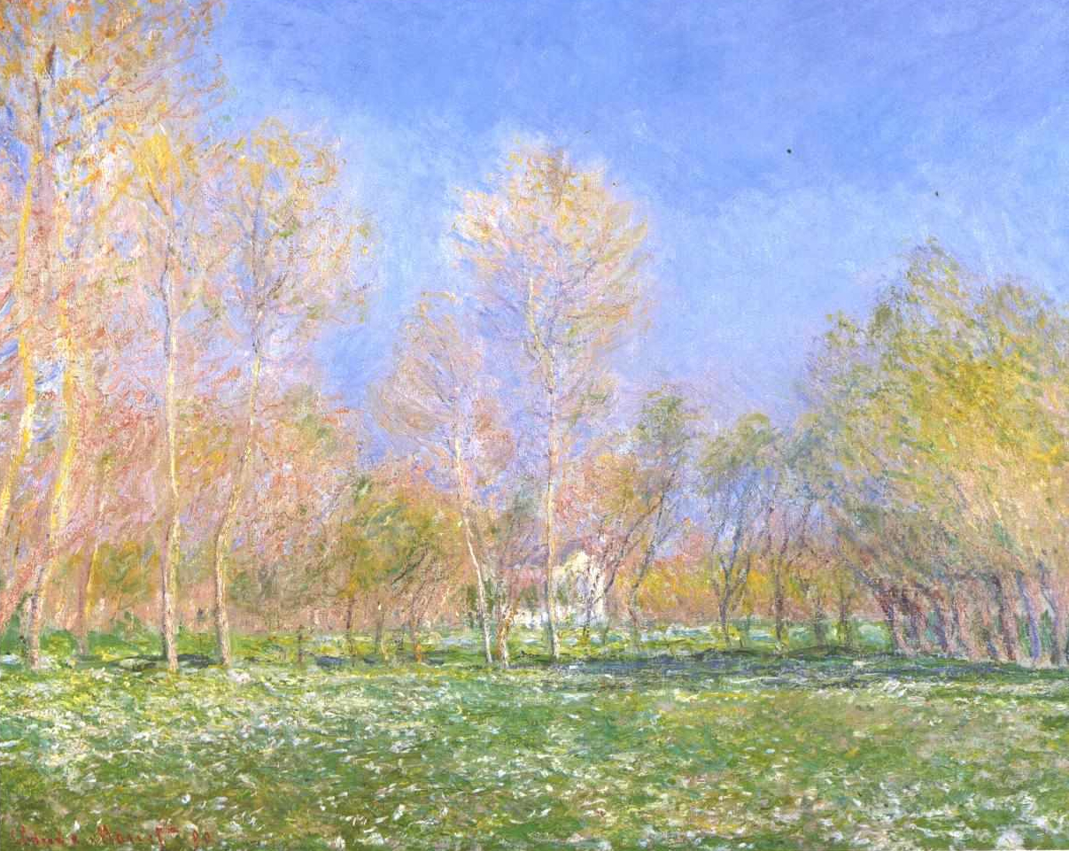 Springtime in Giverny by Claude Monet